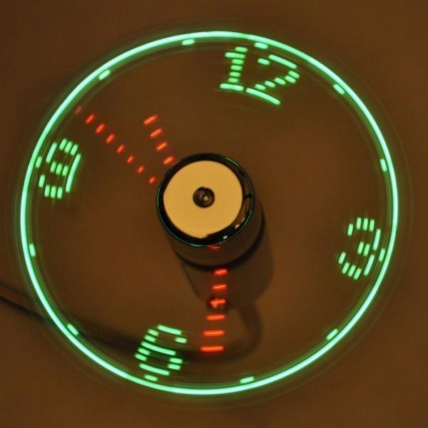 Вентилятор USB+часы