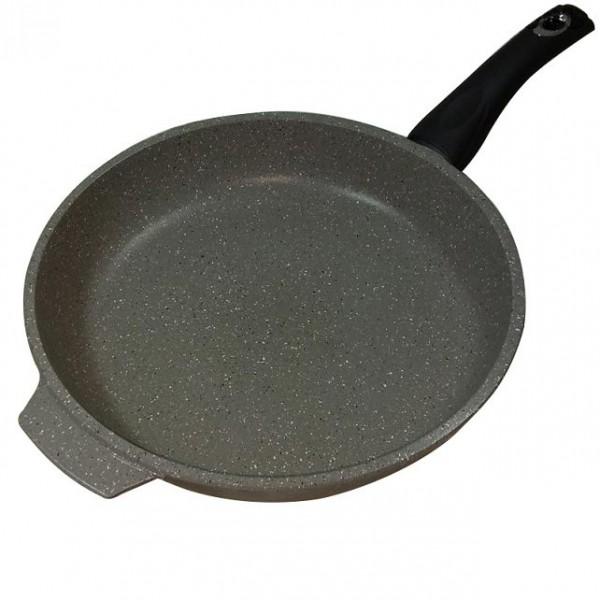 Сковорода (с280) 280/55мм (с утолщенным дном) литой ал. Кукмара