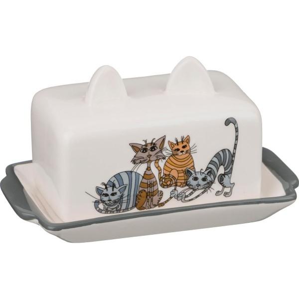 Масленка Озорные коты 18*11*9см 188-206