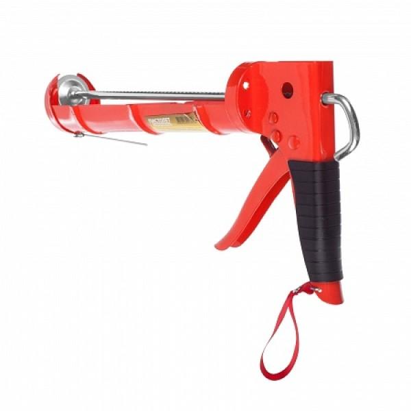 Пистолет для герметика SPARK LUX Профи полукорп.с зубчатым штоком+лезвие 310мл(290*172*53мм) /1/50