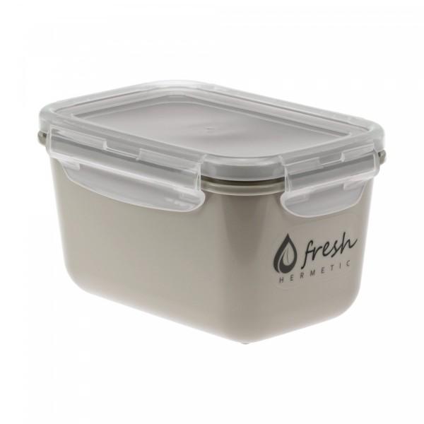 Ёмкость для продуктов ФРЕШ герметичная 0,7 л капучино