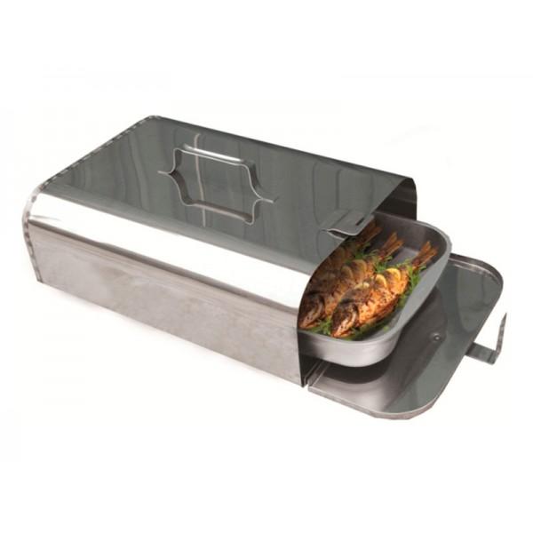 Жаровня-труба (Торпеда) духовка на костре (нерж.сталь)