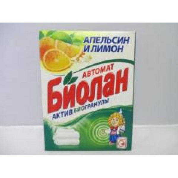 Порошок стир. Биолан Авт  2,400 гр Апельсин и Лимон