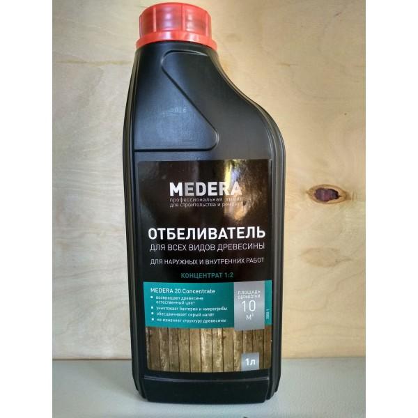 Отбеливатель для древесины Медера 20 универсальный, 1л (концентрат 1/2)