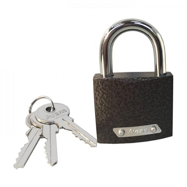 Замок навесной Avers PD-01-50 (one key) (1) автомат.запирание,цилиндр,англ.ключ,48х74мм, 2 ключа