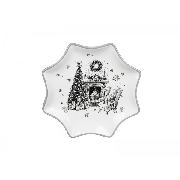 НГ Блюдо звезда Чудесная ночь 25,5*2см керамика 820-099