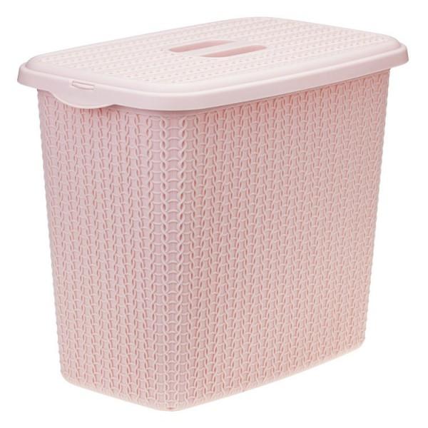 Контейнер для стирального порошка ВЯЗАНИЕ  6л (чайная роза)