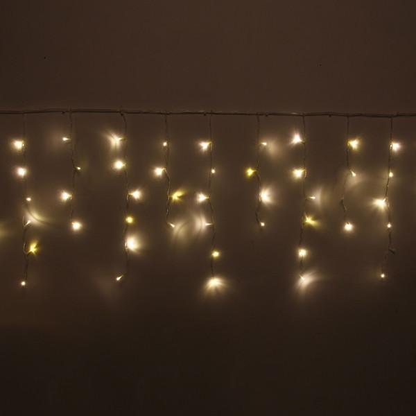 """Гирлянда для улицы БАХРОМА """"Мерцание"""" 3м*40/60см 100 ламп LED, прозр. провод, теплый белый/белый"""