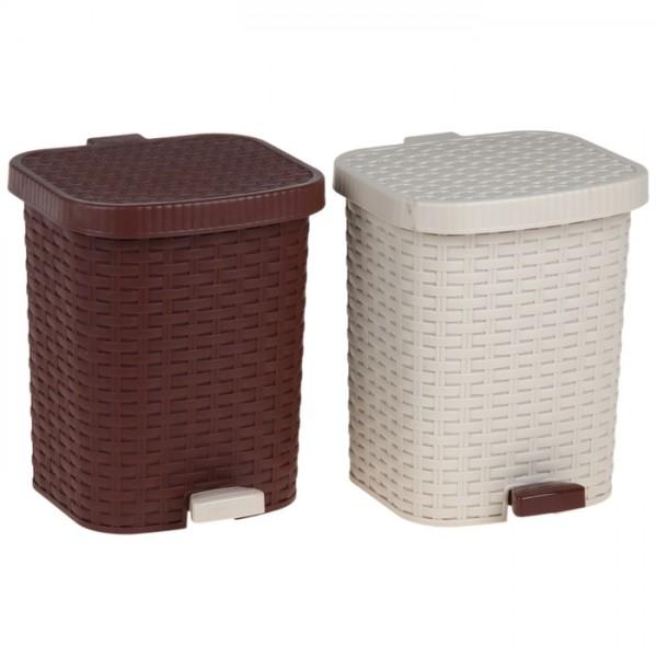 Контейнер для мусора педальный 8л. (квадратный)(серый) М427