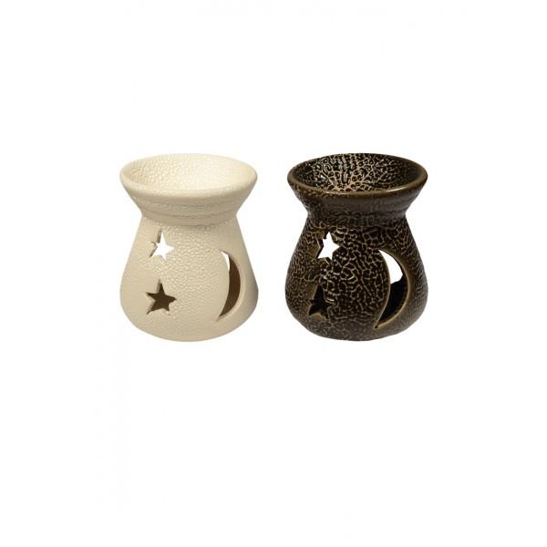 Аромалампа Звезды и луна 7*7*7см керамика 536-229