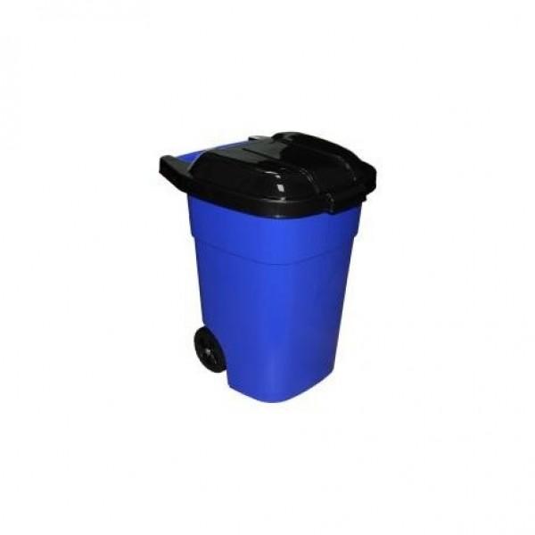 Бак универсальный для мусора 65л на колес.  (синий)  (Альтернатива) м4664