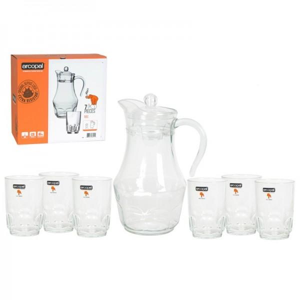 Набор питьевой 7пр Брашмания оранж Р7451