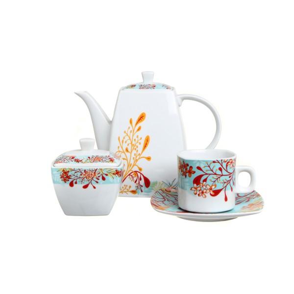 Набор чайный 14пр Алгаври квадратный фарфор ПКГ106249