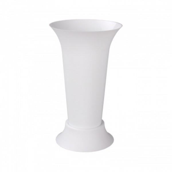 Ваза для цветов под срезку (белый) (Альтернатива) м7553
