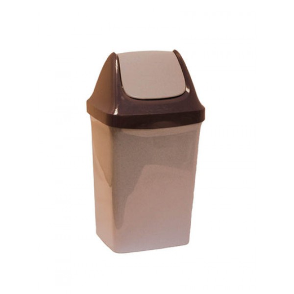 Контейнер для мусора СВИНГ 25л (беж.мрамор)