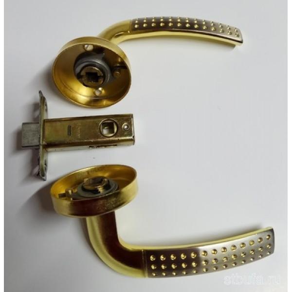 Ручка-защелка дверная SIB LUX TQ-6006 MCF золото