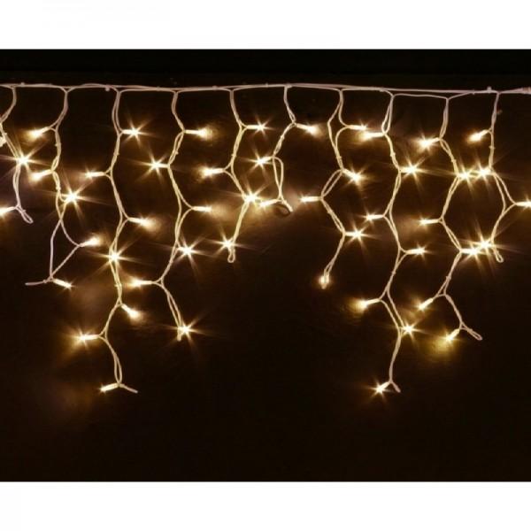 Гирлянда для дома БАХРОМА 1,5м*30/50см 48 ламп LED, прозр. провод, 8 реж., теплый белый