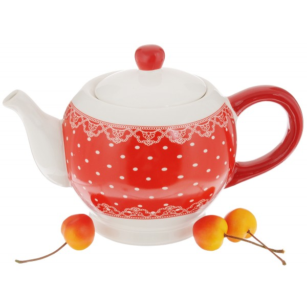 Чайник заварочный 0,8л Красный узор 50565
