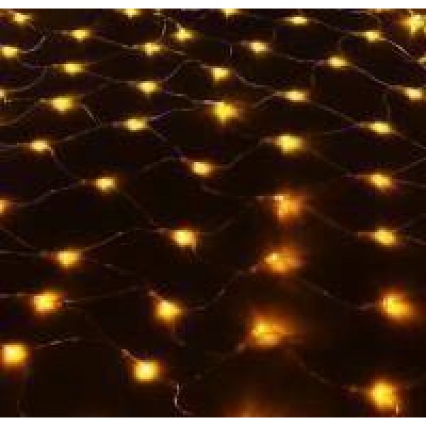 Гирлянда Сеть светодиод. 240 LED, 2х2м теплый, провод прозр
