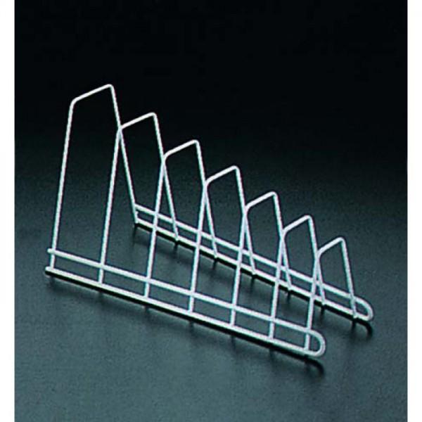 """Подставка для крышек (сталь с полимерным покрытием""""зеркальный хром"""",размер 19,5х45х9см)"""