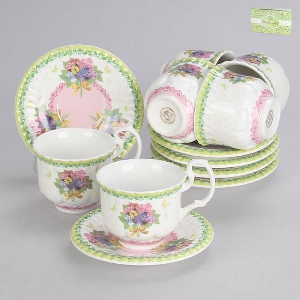 Набор чайный 12пр 220мл, бк6865 фарфор