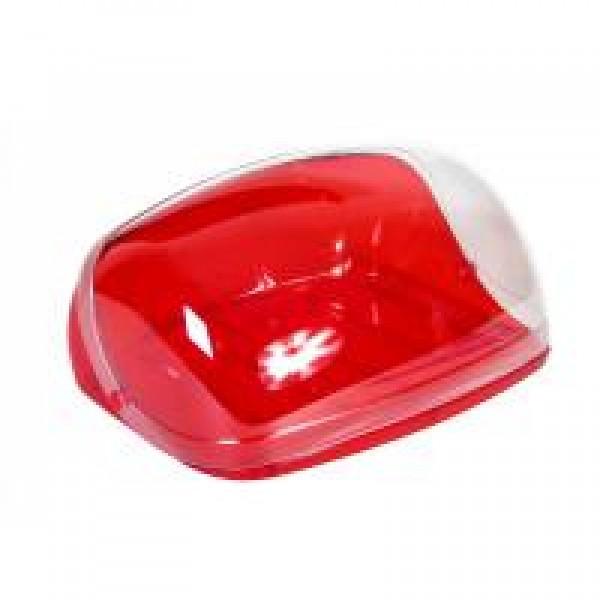 Хлебница КРИСТАЛЛ малая (красный прозрачный)
