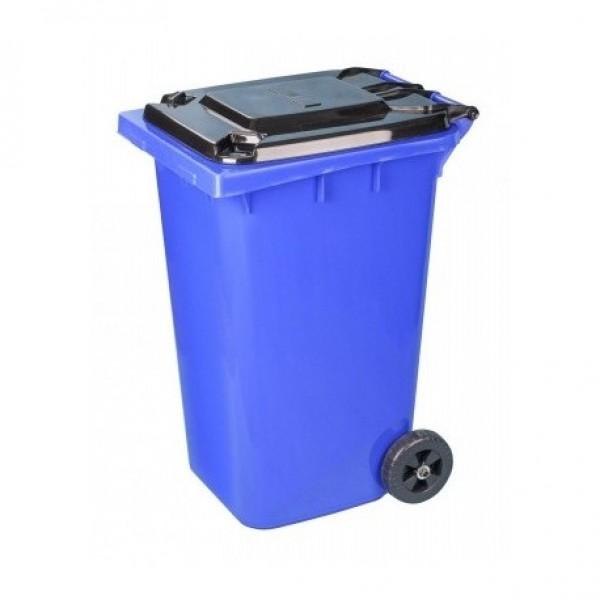 Бак для мусора на калесах синий 240л ам5938