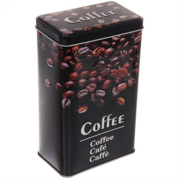 """Банка для продуктов металлическая """"Black style"""" Кофе 1700мл"""