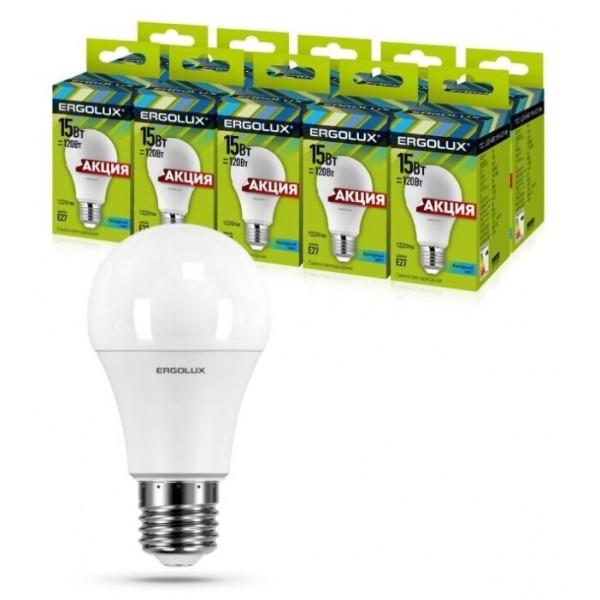 Лампочка светодиод. ERGOLUX LED-A60-15W-E27-4K