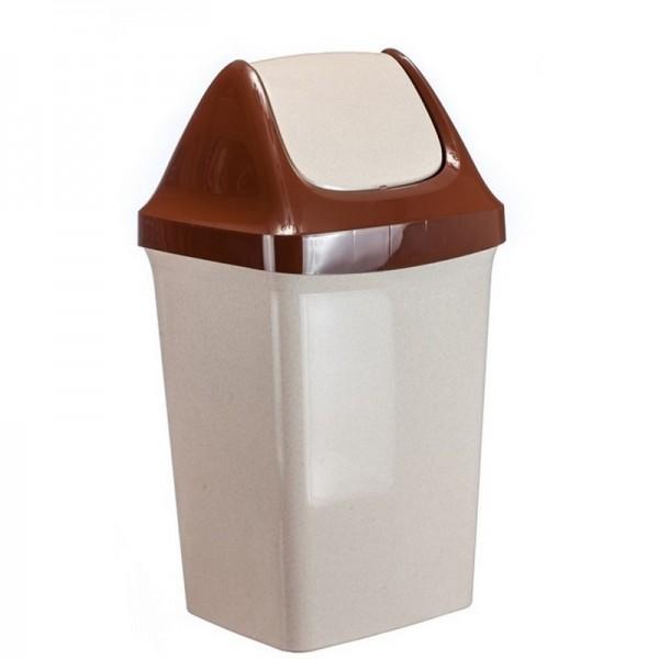 Контейнер для мусора Свинг 50л мрамор М2464мр