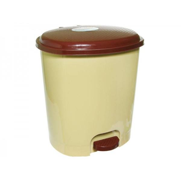Контейнер для мусора 12л бежевый/темно-коричневый рп-1015беж/ткор