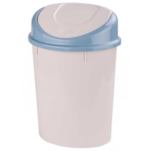 Контейнер для мусора 8л овальный светло-серый ам7004