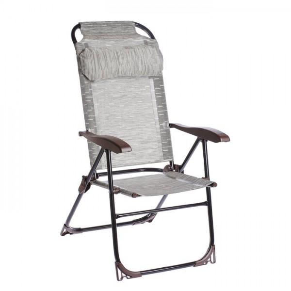 Кресло-шезлонг с полкой   КШ2/4 бамбук