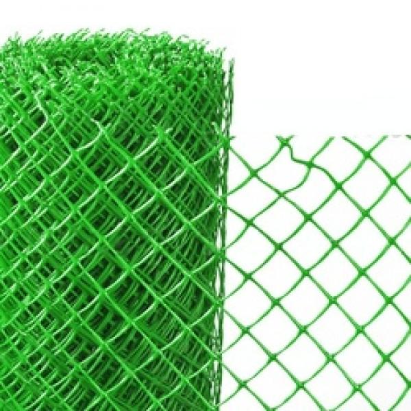 Решетка садовая 40х40мм ПВХ зеленая (1,5х20м) РОМБ