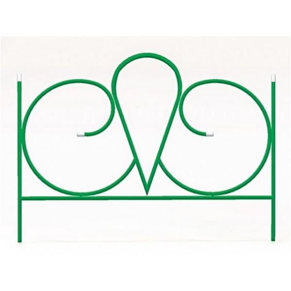 """Заборчик садовый """"Волна"""" комплект 5шт (высота 0,57м; ширина 0,66м; длина 3,3м; d 10мм)"""