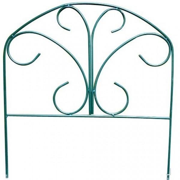 """Заборчик садовый """"Бабочка"""" комплект 5шт  (высота 0,67м; ширина 0,67м; длина 3,35м; d 10мм)"""