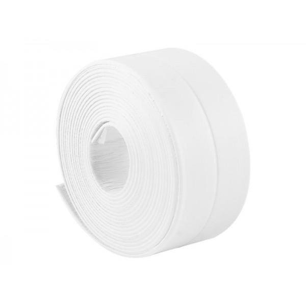 Лента бордюрная клейкая для ванн белая  20*20мм 3,3м