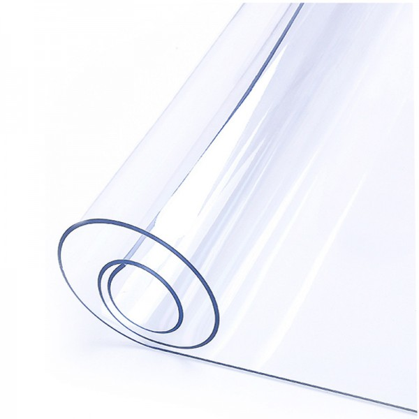 Клеенка термостойкая в рулоне прозрачная, толщина 1,2мм*0,6м*20м