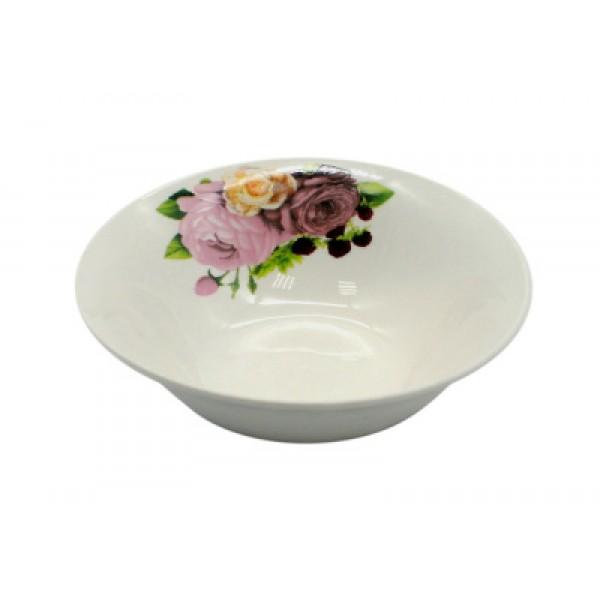 Салатник круглый d=18 Розы 550мл с7-3105