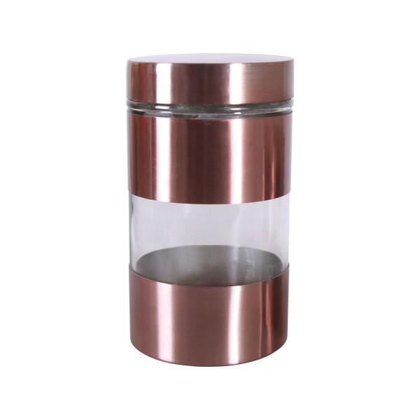Емкость для хранения сыпучих и жидких продуктов 1л BOHMANN коричн.BHG 01-358  (x12)