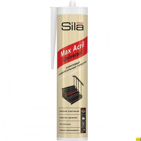 Герметик акриловый универсальный белый 290мл Sila Pro Max Acril Universal /12