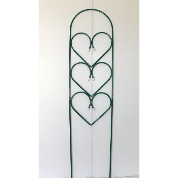 Подставка п.ц настенная двойная сердечко с элементами шпалеры